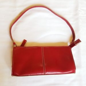Nine West small shoulder purse - red